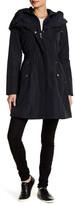 Laundry by Shelli Segal Pillow Collar Long Sleeve Raincoat