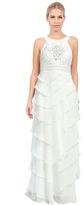 Sue Wong W5133 Sleeveless Dress in White