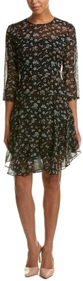 Donna Morgan Women's 3/4 Sleeve Aline Dress with Ditsy Floral