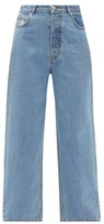 Ganni Washed Denim Loose Fit Jeans - Womens - Light Denim