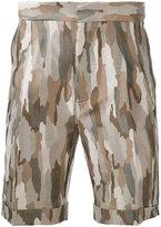Cerruti camouflage shorts - men - Cotton - 46