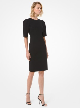 Michael Kors Stretch Boucle Puff-Sleeve Sheath Dress