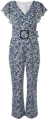 Tanya Taylor Avalon Confetti-print belted jumpsuit