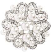 Nina Women's Imitation Pearl & Crystal Brooch
