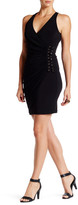 GUESS Surplice Side Ruched Midi Dress