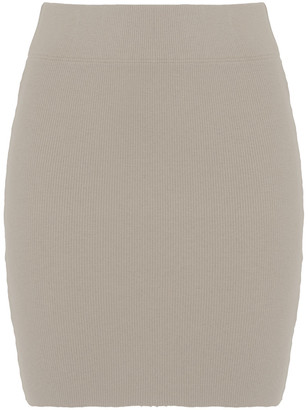 James Perse Ribbed Stretch-cotton Jersey Mini Skirt