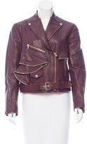 Alexander McQueen Ruffled Leather Jacket w/ Tags
