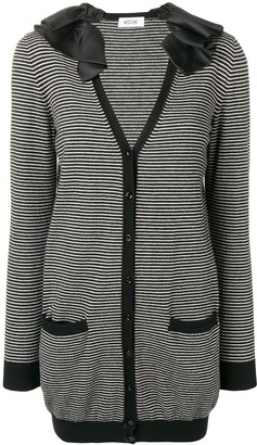 Moschino Pre-Owned ruffled neck striped jacket