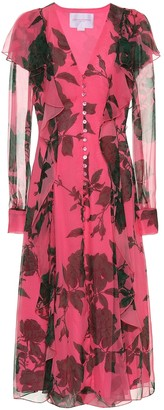 Carolina Herrera Printed silk chiffon dress