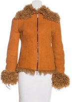 Gianfranco Ferre Collared Shearling Jacket