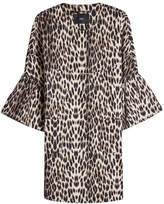 Steffen Schraut Leopard Print Coat with Cropped Sleeves