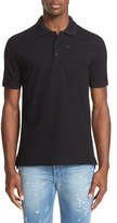 Givenchy Embroidered Cross Pocket Polo