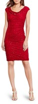 Lauren Ralph Lauren Sequin Cowlneck Dress