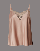 Autograph Applique Lace & Satin Camisole