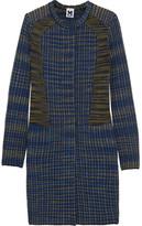 Collarless bouclé-tweed coat
