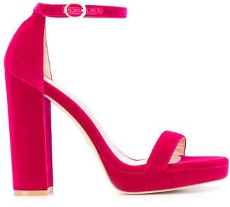 Stuart Weitzman Velvet Platform Sandals