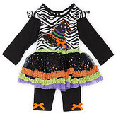 Rare Editions 3-24 Months Witch Hat Halloween Dress & Leggings Set
