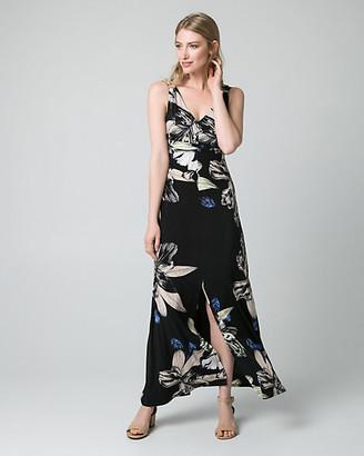 Le Château Floral Print Knit Maxi Dress