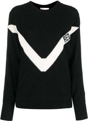 RED Valentino Logo-Print Knitted Jumper