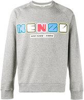 Kenzo logo print sweatshirt - men - Cotton/Polyester - S