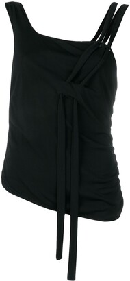 Giorgio Armani Pre Owned Hanging Fabric Detailed Top