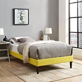 Modway Sharon Sunny Fabric Bed with Squared Tapered Legs