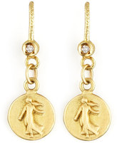 Dominique Cohen Petite Goddess Coin Drop Earrings