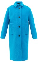 Thumbnail for your product : Prada Single-breasted Cotton-blend Corduroy Coat - Blue