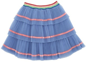 Gucci Plisse Layered Stretch Tulle Skirt