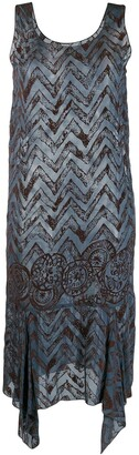 Romeo Gigli Pre-Owned 1990's Zigzag Handkerchief Hem Dress