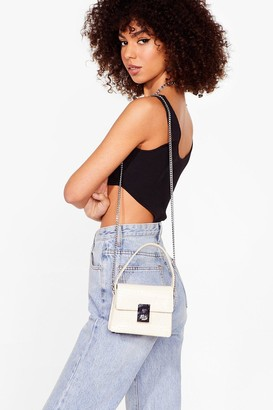 Nasty Gal Womens WANT Gotta Lock to Offer Mini Crossbody Bag - Beige - ONE SIZE, Beige