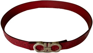 Salvatore Ferragamo Red Leather Belts