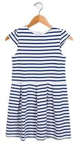 Petit Bateau Girls' Striped Cap Sleeve Dress