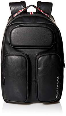 Armani Exchange A X Men's Leather Three Pocket Backpack