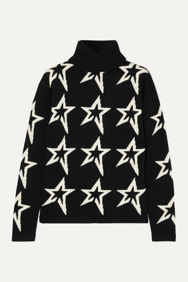 Perfect Moment Star Dust Intarsia Merino Wool Turtleneck Sweater