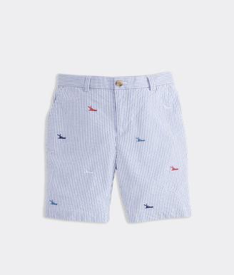 Vineyard Vines Boys' Sportfisher Seersucker Breaker Shorts