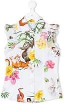 MonnaLisa character print frill sleeve blouse