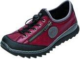 Rieker Women flat Slipper red, (schwarz/wine/dust/sc) M626900