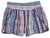 Ella Moss Jaya Print Voile Shorts (Big Girls)