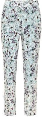 Erdem Gianna floral silk crepe de chine pants