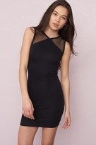 Garage Mesh Yoke Bodycon Dress
