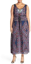 City Chic 'Biba' Drawstring Maxi Dress (Plus Size)