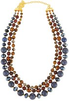 Jose & Maria Barrera Semiprecious Beaded Triple-Row Necklace