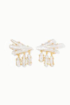 PEET DULLAERT Vanura Gold-plated Pearl Earrings - White