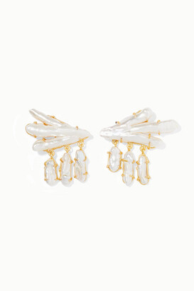 PEET DULLAERT Vanura Gold-plated Pearl Earrings