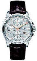 Hamilton Jazzmaster Auto Chrono Stainless Steel & Embossed Leather Strap Watch