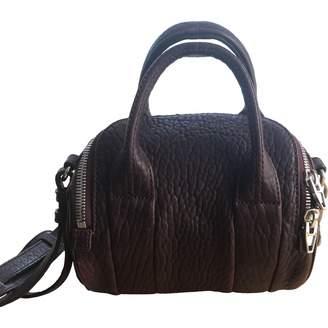 Alexander Wang Rockie Burgundy Leather Handbags