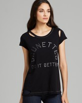Rebel Yell Tee - Brunettes Torn