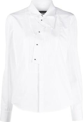 DSQUARED2 pleated bib shirt