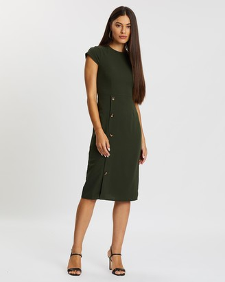 Atmos & Here Elliana Button Side Dress